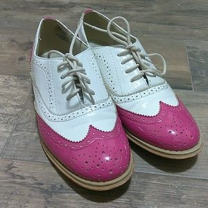 Womens Wanted Babe Wingtip Shoes Size 7